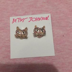 *BETSEY JOHNSON* kitty heads earrings